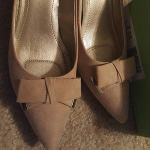 Bow High Heels Taupe 7 1/2
